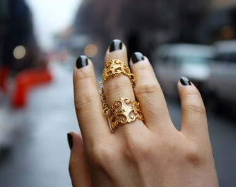 Gilded Chain Ring