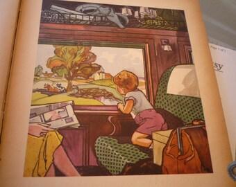 Nursery Print - Faster than Fairies - Juanita Bennett - Reclaimed 1930s ephemera - Nursery Art gift for mom mothers day