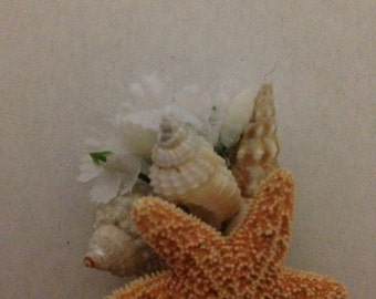 Seashell Beach Destination Wedding Sea Shell Boutonniere Corsage Star Fish