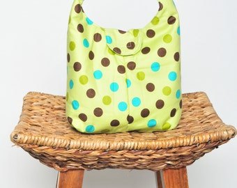 Eco Friendly Insulated Lunch Bag - Topsy Turvy Lime