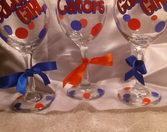 Private listing for coollexi -Gator football Wine Glass 20 oz