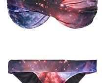 SALE 80% OFF. Supernova Galaxy Bikini Bottom