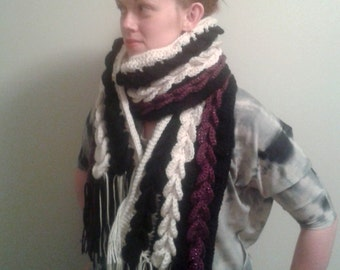 Sequin Sequences Scarf Crochet Pattern PDF Textured Heavy