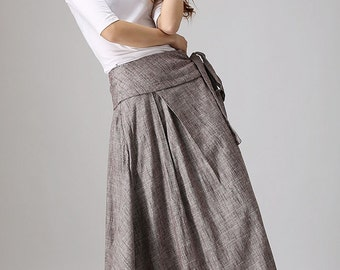 Long wrap skirt – Etsy