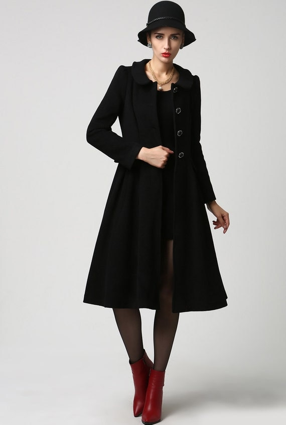 wool jacket black wool coat dress coat womens jackets long