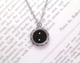 Typewriter Key Necklace With Dot Keys - Vintage Typewriter Jewelry By Haute Keys