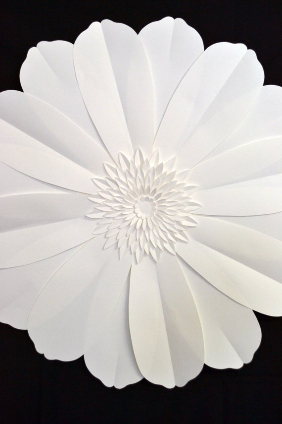 Giant 3 ft paper flower for wedding decoration