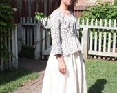 19th c. Printed Cotton Bed Gown