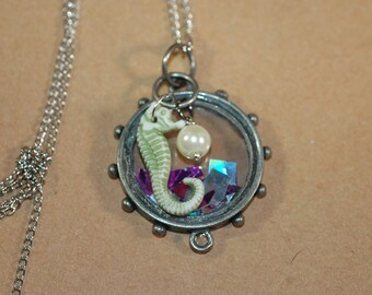 Enchanted Seahorse Charm Necklace