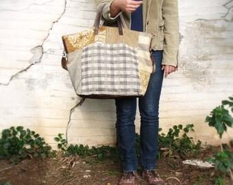 Winding Road Weekender - Brown Leather, Velvet Luggage