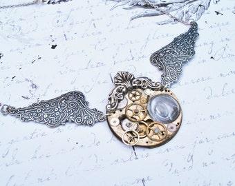 """Clockwork necklace """" the eye"""""""