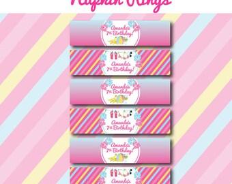 Pool Birthday Party - NAPKIN RINGS - Printable Napkin Wrap - Swimming Party Decorations - DIY Pool Party - Printable Pool Party