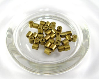 Brass Tube Beads (25 pcs.) - tube beads gold color , brass beads, make jewelry yourself