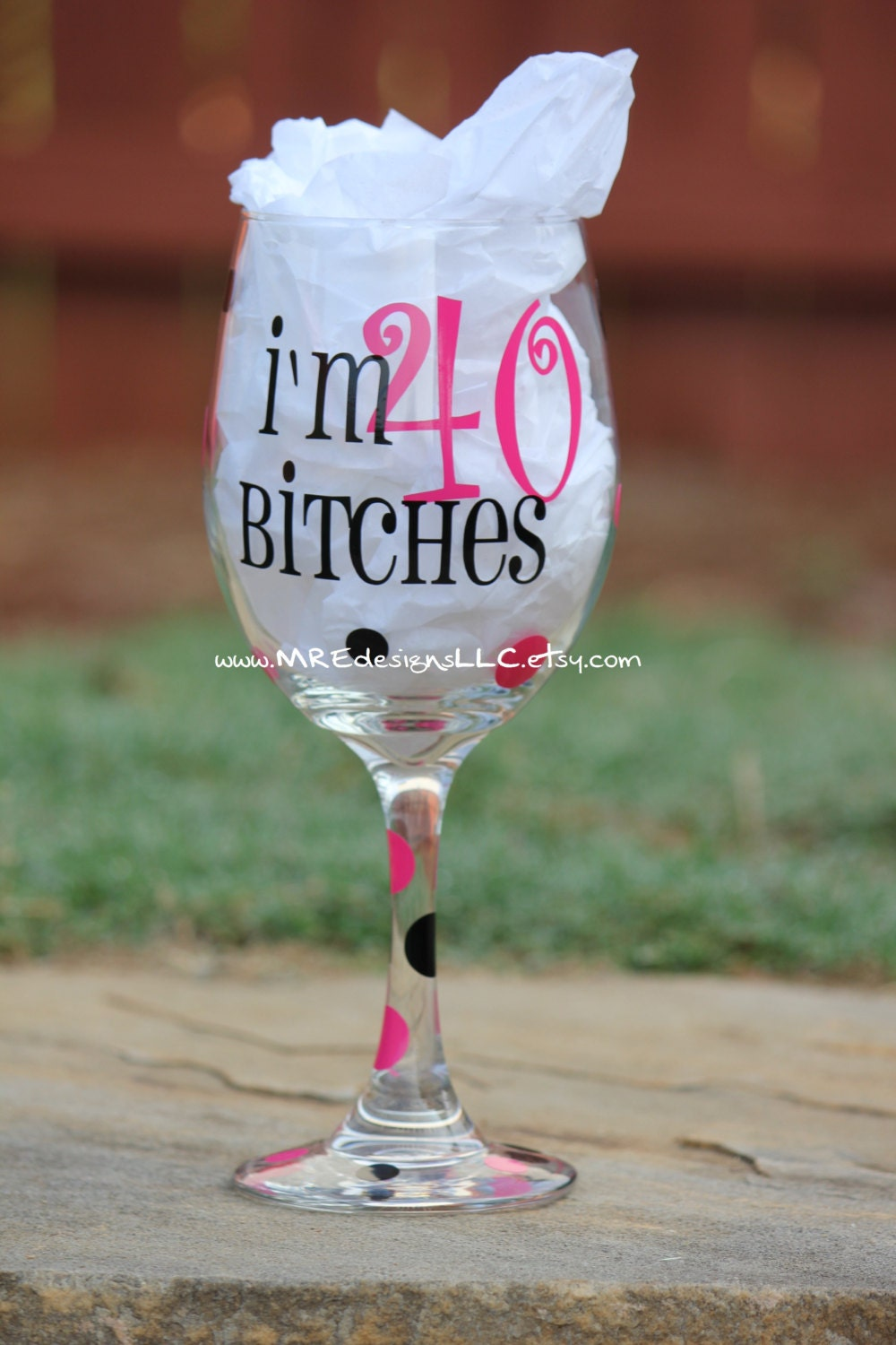 Th Birthday Glitter Wine Glass
