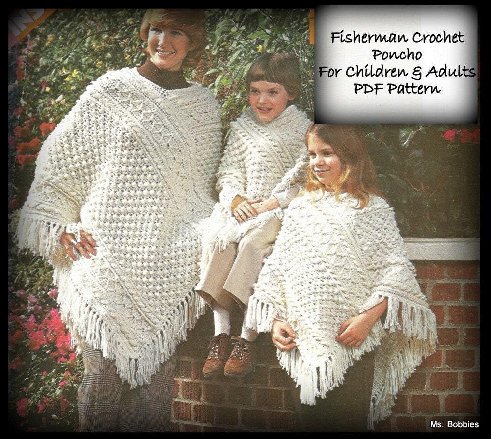 Crocheted Poncho Pattern Fisherman Aran Pdf 020937