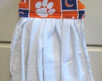 Hanging Kitchen Towel--Clemson Tigers