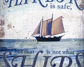 In Harbor - paper print - inspirational ocean word art