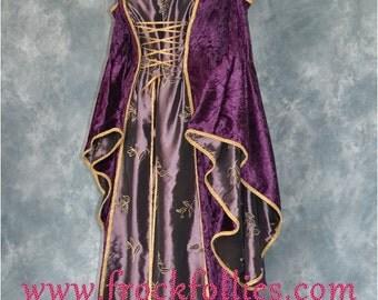 "Medieval Gown, Elvish Wedding Gown, Handfasting Dress, Renaissance Gown, Medieval Dress, Gothic Dress, Prom Dress, LARP Dress ""Lara"""