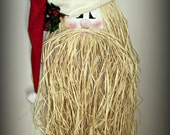 Raffia Santa Door Greeter ~ Made to Order
