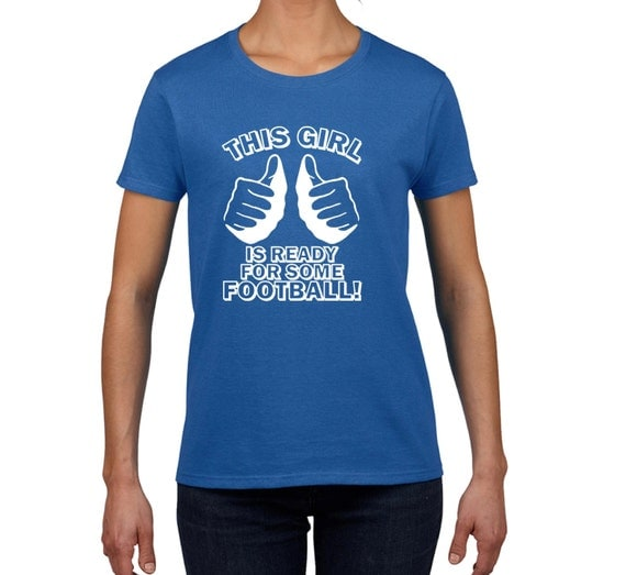 youth girls THIS GIRL is ready for some FOOTBALL t shirt  funny t shirt