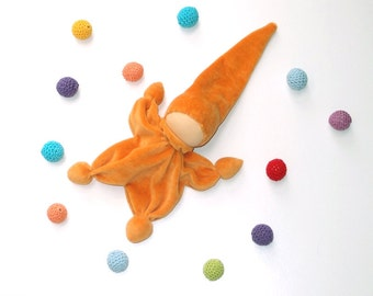 waldorf classic doll gnome orange, classic, Cuddle  toys /eco friendly gifts for kids toys/ Organic Teething toy