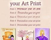Personalize your art print, personalized art, jolinne