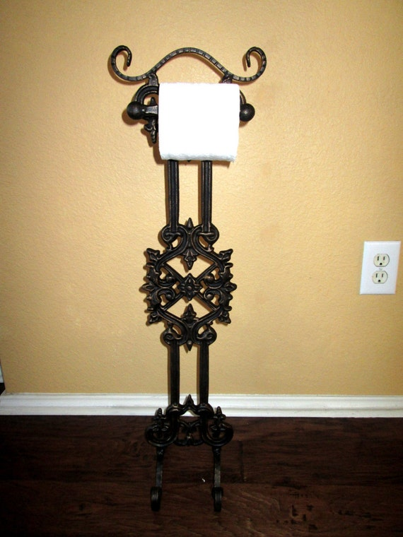 Original Design Iron Free Standing Toilet Paper Holder