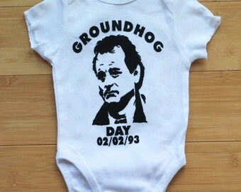 Bill Murray Groundhog Day Baby Bodysuit.  Awesome. Color/Sleeve Options