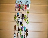 Reserved for Willow        Puppy Sun Catcher  Crystals Glass Beads Gem Stones    House Gift  Dog Lovers