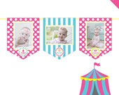 INSTANT DOWNLOAD Pink Carnival or Circus Party - DIY printable photo banner kit