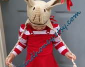 Crochet Pig Hat  ~  Made-to-order
