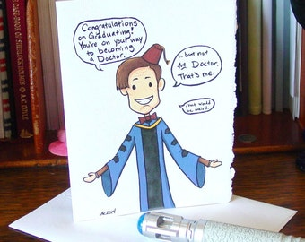 Doctor Who Graduation Card - Eleventh Doctor - Congratulations