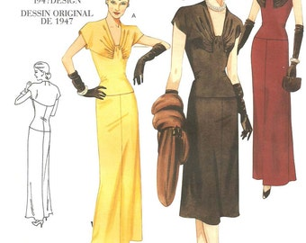 Vogue 2610 / Reproduction 40s Sewing Pattern / Dress Gown / Size 6 8 10