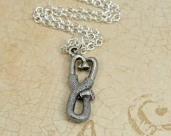 Stethoscope Necklace, Silver Doctor Nurse Stethoscope Charm on a Silver Cable Chain