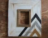5x7 Metallic Distressed Arrow Pattern with Herringbone Trim