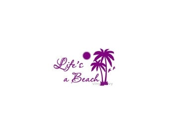 Beach Life Flip Flops Car Decal Vinyl Car Decals Window - Beach vinyl decals