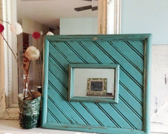 Handmade wooden framed mirror. Mirror can be removed and a photo put in its place REAdY to ShiP