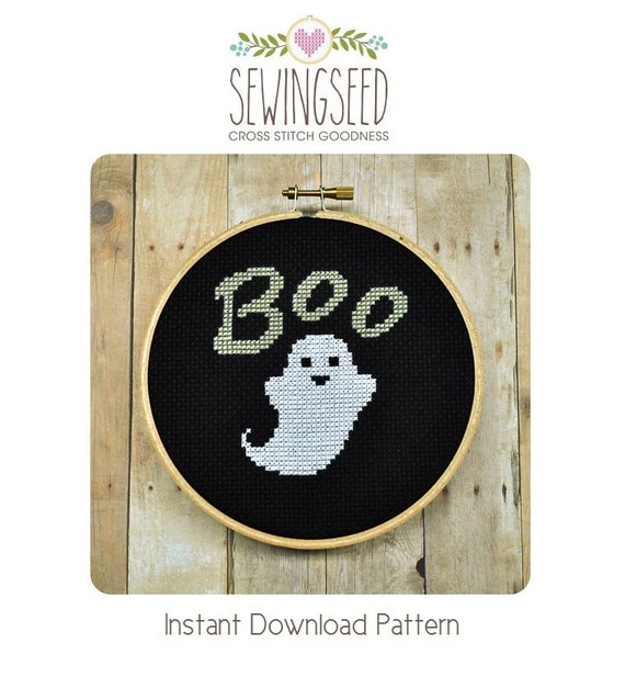 Ghost Cross Stitch Pattern Instant Download