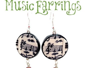 Polymer Clay Tutorial - Musical Earrings Project