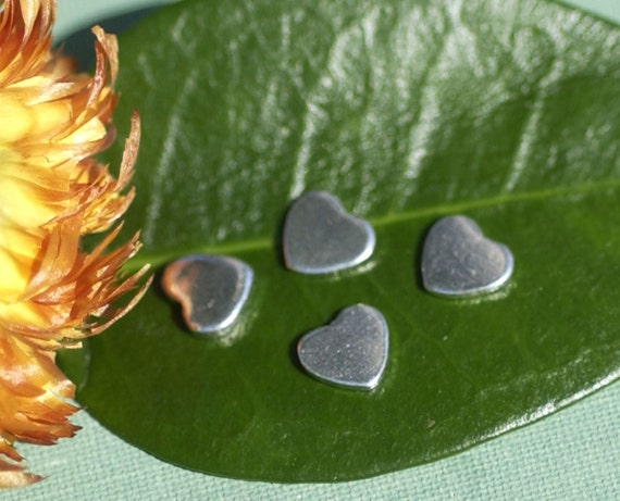 Sterling Silver 22g Classic Heart Chubby Metal Blanks Shape Form 925
