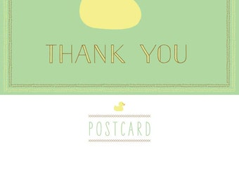 Duckie Thank You Postcard