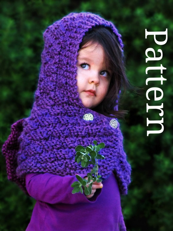 Animal Hoodie Knitting Pattern : Dragon Hooded Cowl Knitting Pattern Kids Cowl by CreatiKnit