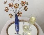 Fabulous Leopard Print Bouquet of Forever Blooming Tin Flowers--Les Grrrrrrrrrrrr