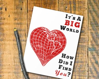 Printable Valentine Card How Did I find You Digital Download Valentine DIY Print Instantly sweet valentine gift romantic valentine map heart