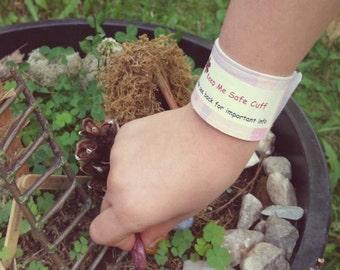 Kids ID Safety Bracelet Childrens Medical Allergy Alert Wristband Pink Camo