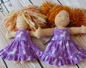"9"" ,10"" ,12"", 15"", 18"" Doll Sundress featuring Pretty Unicorns In Lilac"