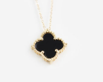 Black Clover Necklace - Gold - Onni
