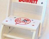 Child's Flip Stool New York Yankees Baseball Personalized
