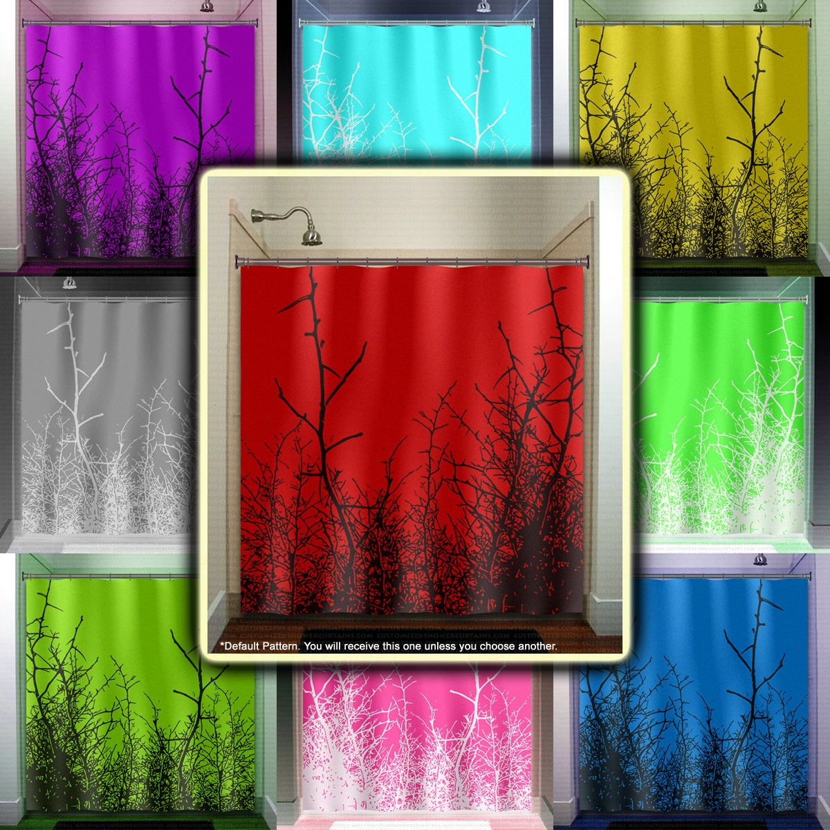 Red White And Blue Curtains Wire Shower Curtain