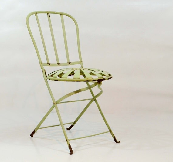Starburst lamp etsy - Rare Vintage Steel Spring Chair Metal Folding Chair Mint